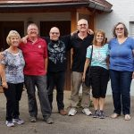 Wesley, Mary, Richard und Kay Riehle zu Besuch auf den Härten